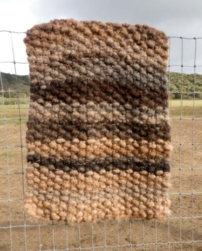Knit rug from Core Spun